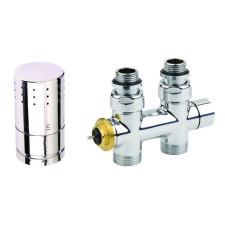 Corpotherma Anschlussarmaturen Design-Ventilarmatur Durchgangsform - chrom