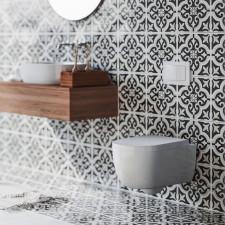 Nordholm Maresol WC-Set - Kompakt - spülrandlos, weiß, 4-Liter-Tiefspüler, mit Softclose-Deckel- B: 360 H: 330 T: 490