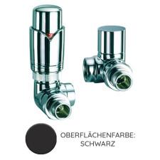 Nordholm Design-Armaturen Set, Edelstahloptik, Winkel-Eck, Thermostat im Vorlauf