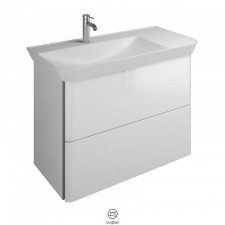 Burgbad Iveo Waschtisch mit Unterschrank Links