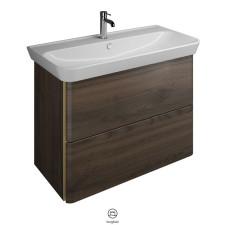 Burgbad Iveo Waschtisch mit Unterschrank Set 3 - 100 cm, Keramik-Waschtisch, 1 Schublade, 1 Auszug- B: 1000 H: 721 T: 492