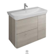 Burgbad Iveo Keramik-Waschtisch mit Unterschrank Variante Links