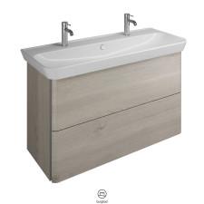 Burgbad Iveo Waschtisch mit Unterschrank seitlich