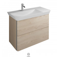 Burgbad Iveo Waschtisch mit Unterschrank Set 9 - 80 cm, Mineralguss-Waschtisch, 1 Schublade, 1 Auszug- B: 800 H: 721 T: 492