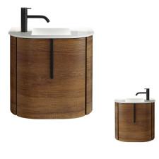 Burgbad Lavo 2.0 Waschtisch mit Unterschrank - 53 cm, Mineralguss-Waschtisch, Waschtischunterschrank mit 1 Tür- B: 530 H: 492 T: 350