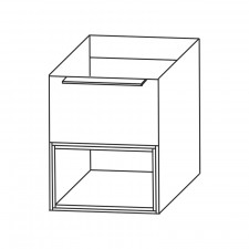 Puris Aspekt Plattenunterschrank - 40 cm Skizze
