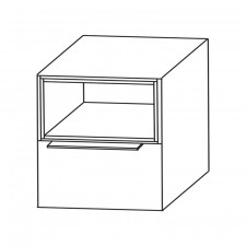 Puris Aspekt Plattenunterschrank - 60 cm Skizze