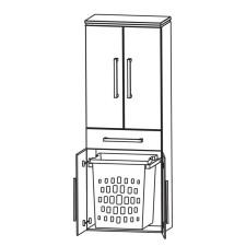 Puris Cool Line Hochschrank 60 cm, mit 4 Türen, Wäscheauszug Skizze