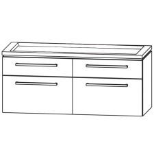 Puris Cool Line Waschtischunterschrank Doppel WT 120 cm Skizze