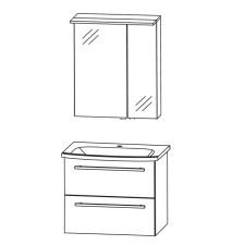 Puris Fine Line Badmöbel Set - 65 cm Skizze