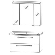 Puris Fine Line Badmöbel Set - 95 cm Skizze