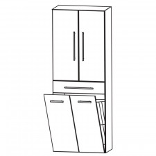Puris Fine Line Hochschrank - 60 cm Skizze