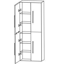 Puris Fine Line Hochschrank als Besenschrank- 60 cm Skizze