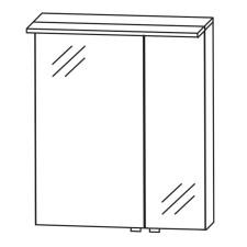 Puris Fine Line Spiegelschrank - 60 cm