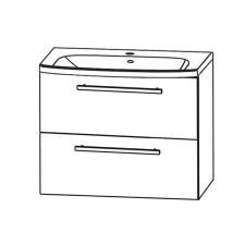 Puris Fine Line Waschtisch mit Unterschrank Set 4 - 65 cm
