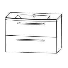 Puris Fine Line Waschtisch mit Unterschrank Set 5 - 95 cm