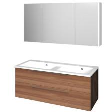 Puris Fresh Badmöbel Set 28 - 120 cm, Spiegelschrank Serie D