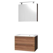 Puris Fresh Badmöbelset 3 - 70 cm Spiegelschrank Serie B