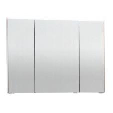 Puris Ice Line Spiegelschrank - 90 cm, 3 Spiegeltüren, 1 LED-Flächenleuchte, 6 Glasfachböden, 2 Mittelwände- B: 900 H: 672 T: 150
