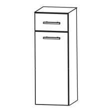 Puris Kera Plan Highboard - 30 cm, mit 1 Wäschekippe, 1 Schubkasten Skizze