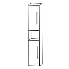 Puris Kera Plan Hochschrank 30 cm, 2 Türen, offenes Fach Skizze