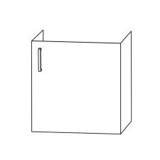 Puris Kera Trends Waschtischunterschrank - 53 cm Skizze