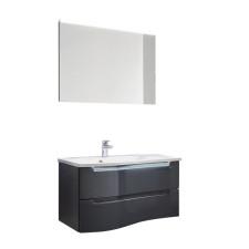 Puris Purefaction Badmöbel Set 10 - 91 cm 2 Auszüge, Flächenspiegel