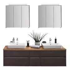 Puris Unique Badmöbel Set 4 - 170 cm mit 2 Spiegelschränken