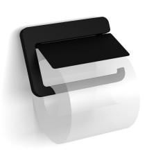Avenarius Serie 480 Papierrollenhalter mit Deckel, schwarz- B: 147 H: 97 T: 23