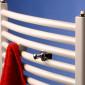 Corpotherma Zubehör Handtuchhalter / Handtuchknopf - 2 Stück chrom