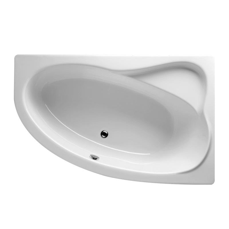 RIHO Acryl Raumsparwanne links Komplett Badewanne weiß 160 x 70 Träger//Ablauf