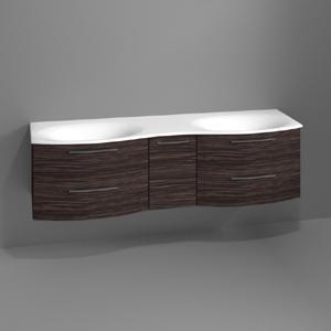 Waschtischunterschrank: mit 4 Auszügen, 1 Drehtür, ohne Beleuchtung, Breite: 1700 mm