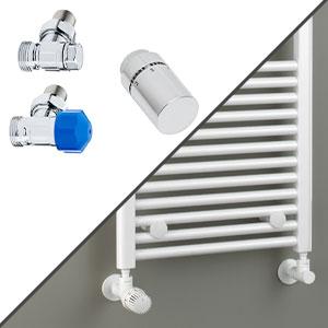 Anschlussvariante: Seitenanschluss + Anschluss-Set Wand, Eckvariante