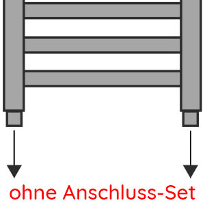 Anschlussvariante: Seitenanschluss ohne Anschluss-Set