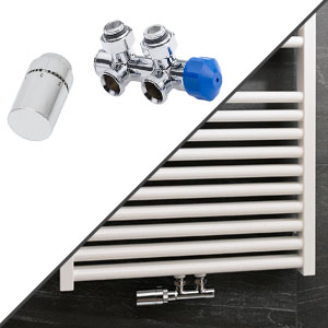 Anschlussvariante: Mittelanschluss + Anschluss-Set Wand, Eckvariante