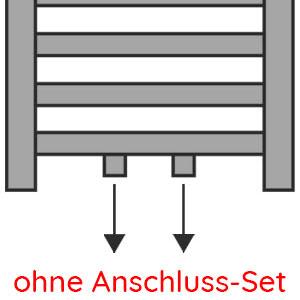 Anschlussvariante: Mittelanschluss ohne Anschluss-Set