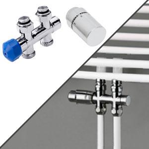 Anschlussvariante: Mittelanschluss + Anschluss-Set Boden, Durchgangsvariante