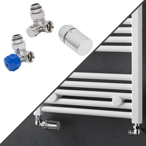 Anschlussvariante: Seitenanschluss + Anschluss-Set Wand, Winkel Eck links