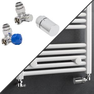 Anschlussvariante: Seitenanschluss + Anschluss-Set Wand, Winkel Eck rechts