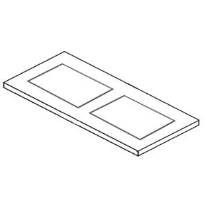 Ausschnitt Waschtischplatte: mit Ausschnitt rechts und links für Connect Air