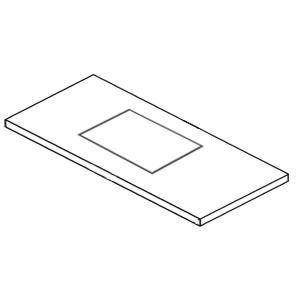 Ausschnitt Waschtischplatte: mit Ausschnitt mittig für Connect Air