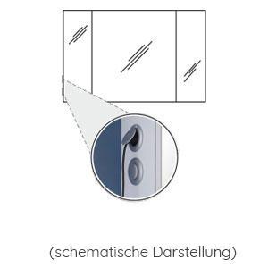 Position Schalter-Steckdosen-Element: links außen - für Spiegelschrank 1200 mm breit