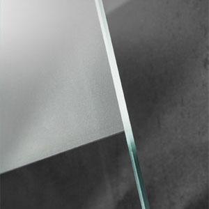Glasvariante: Echtglas - Mattierung mittig