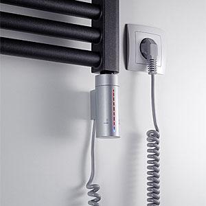 Heizstab: 3 - IP44, LED, Timer, Frostwächter, silber, 300W