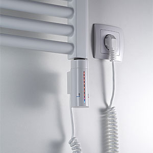 Heizstab: 3 - IP44, LED, Timer, Frostwächter, weiß, 300W