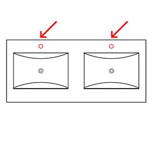 Hahnloch: mit Hahnlöchern