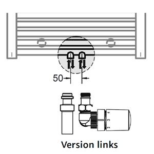 Anschlussvariante: Mittelanschluss + Mischbetrieb Set (Version links)