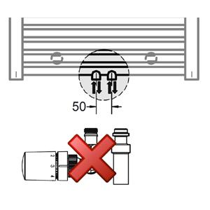 Anschlussvariante: Mittelanschluss ohne Mischbetrieb Set
