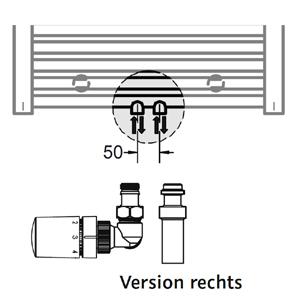 Anschlussvariante: Mittelanschluss + Mischbetrieb Set (Version rechts)