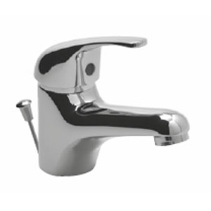 Waschtischarmatur: chrom, inkl. Zugstange und Befestigungsmaterial